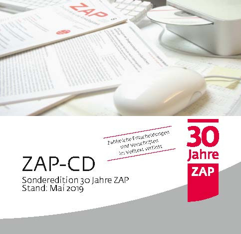 ZAP-CD Stand: Mai 2019 - Sonderedition 30 Jahre ZAP