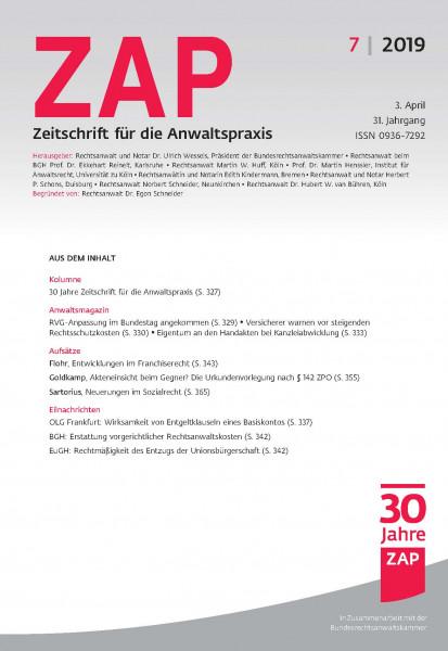 ZAP Zeitschrift für die Anwaltspraxis