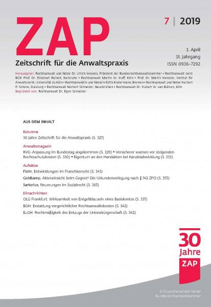 ZAP Zeitschrift für die Anwaltspraxis (digital)