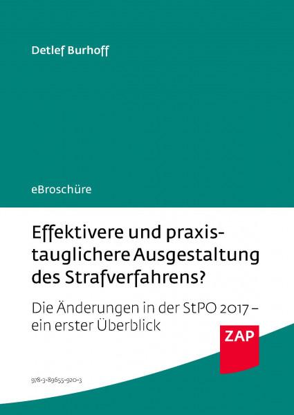 Effektivere und praxistauglichere Ausgestaltung des Strafverfahrens? - eBroschüre (PDF)